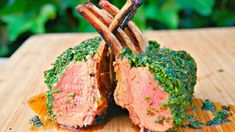 How To Roast a Rack of Lamb - Lamb carre - Lamb chops - Lamb loin Green Crusted Barbecue Recipe Roast Rack Of Lamb, Crusted Rack Of Lamb, Gordon Ramsay, Fun Easy Recipes, Easy Meals, Lamb Rack Recipe, Cut Recipe, Ground Sirloin, Mediterranean Dishes