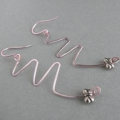 So lovely! I'm thinking spring!! Precious earrings butterflies and pale pink copper by WanderingJeweler, $13.00