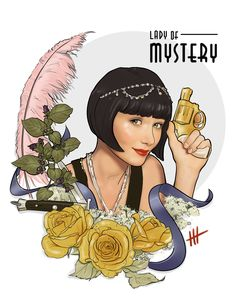 The honorable Miss Phryne Fisher Murdoch Mysteries, Tattoo Project, Drama, Mode Vintage, Paper Dolls, Book Art, Cool Pictures, Mystery, Sketches