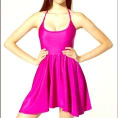 FLASH SALE Hot Pink Skater Dress American Apparel. Excellent condition. Sz medium American Apparel Dresses Mini