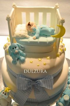Torta Baby Shower, Baby Boy Shower, Gateau Baby Shower Garcon, Rodjendanske Torte, Fondant Cake Designs, Dad Cake, Baby Boy Themes, Cupcakes For Boys, Baby Boy Cakes