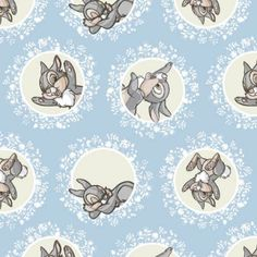 Disney Fabric - Bambi Fabric - Camelot Disney Bambi Thumper in Grey cotton fabric by the yard Fat Quarters, Buy Fabric, Cotton Fabric, Beatrix Potter Fabric, Bambi And Thumper, Benjamin Bunny, Disney Fabric, Framed Fabric, Thing 1