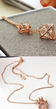 Rose Gold Adjustable and 18 inches All of our jewelry are always made of gold or platinum using natural gemstones and diamonds. Pretty Necklaces, Cute Necklace, Girls Necklaces, Simple Necklace, Cute Earrings, Cute Jewelry, Fashion Bracelets, Fashion Necklace, Modest Wedding Dresses