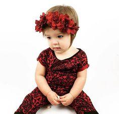 Red flower crown / flower girl / red flowers / baby flower crown / adult flower crown / flower headband