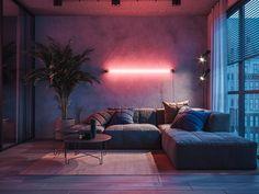 Loft House Design, Home Room Design, Dream Home Design, Interior Design Living Room, Living Room Designs, Living Room Decor, Loft Style, Aesthetic Rooms, Apartment Interior