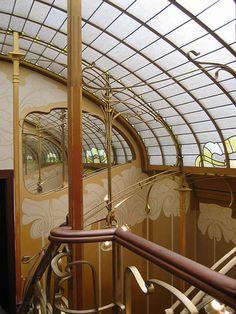 Victor Horta, 3è étage de la maison de Horta, Bruxelles. Arte Nouveau, Art 1900, Modern Style ... -
