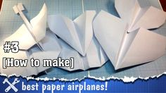 "This video is about how to make my favorite paper airplanes, it includes 7 step-by-step instructions about folding paper into paper planes! Some of these planes have an ""origami"" style - not so easy to make them, but thier behavior in the air is really interesting."