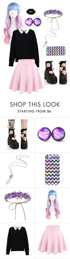 """Pastel Goth?"" by twinkleheartrai ❤ liked on Polyvore featuring Sugar Thrillz, Casetify, Forever 21, Essentiel, Lime Crime, goth, pastel and pastelgoth"