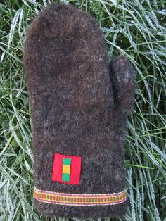 "Winter mittens made of Spelsau""directly from the sheep"" by ArcticLightCrafts on Etsy"