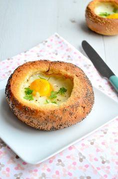 Broodje ei uit de oven - Uit Pauline's Keuken