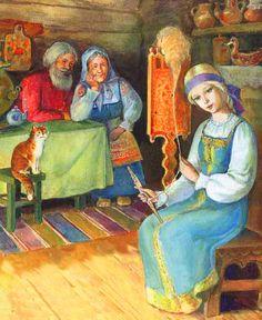 Snegurochkais or The Snow Maidena character in Russian fairy tales. Film Dance, Snow Maiden, Russian Folk Art, Fairy Princesses, Snow Queen, Children's Book Illustration, Winter Scenes, Jack Frost, Faeries
