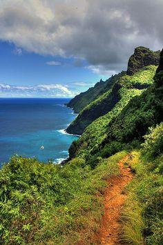 Kalalau Trail, Kauai, Hawaii...Once of my favorite trails. Love and miss my sweet Kauai.
