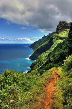 Kalalau Trail, Kauai, Hawaii...Once of my favorite trails.  Love and miss my sweet Kauai.