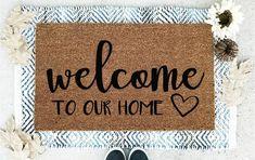 Front Door Mats, Front Porch Signs, Front Door Decor, Outside Door Mats, Front Doors, Porch Mat, Double Door Design, Door Picture, Indoor Door Mats