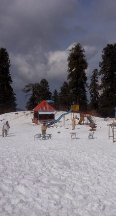 A cloudy day in Ayubia Murree with snow. Ayubia, Murree, an ideal place for one day trip. One Day Trip, Cloudy Day, Pakistan, Snow, Cabin, House Styles, Places, Outdoor, Beauty