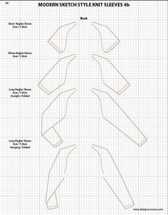 Mens Illustrator Flat Fashion Sketch Templates - Tops Necklines / Collars…