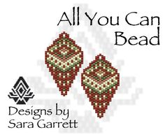 PATTERN ONLY. Create these beautiful peyote earrings. Delica Beads. Odd count with 5 bead colors. 19 bead columns by 25 bead rows. 1 wide by 1.75 long. Pattern includes a pattern preview, full bead legend, colored bead graph, complete word graph. Note: I choose the color palette that