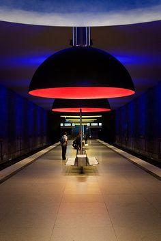 """Munich subway : Munich subway this picture was taken after PhotoWalkMunich #11 in subway station """"Westfriedhof"""""""
