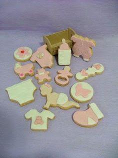 Biscoito e Arte - A arte de fazer biscoito !: Biscoitos Decorados - Maternidade/Chá de Bebê