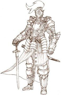 Knights 3: The Knightnening - Imgur Knight Drawing, Warrior Drawing, Knight Art, Fantasy Character Design, Character Design Inspiration, Character Art, Character Creation, Armadura Medieval, Medieval Armor