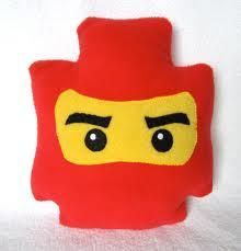 Ninja Lego face pillow. i won't buy this but pinning to look at later when i try to make it myself.