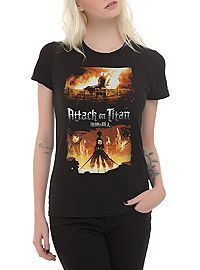 HOTTOPIC.COM - Attack On Titan Burn Scene Girls T-Shirt