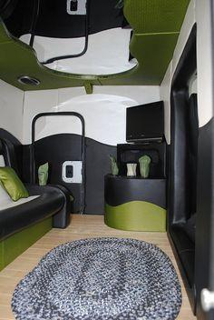 Decorative Inside.. its a semi truck trailor in the back