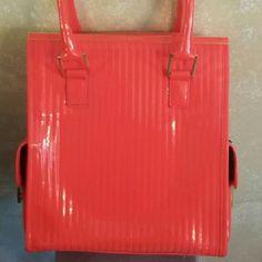 Ted Baker Bag Beautiful NWOT large orange hand bag... Patten Leather Look... Ted Baker Bags Satchels