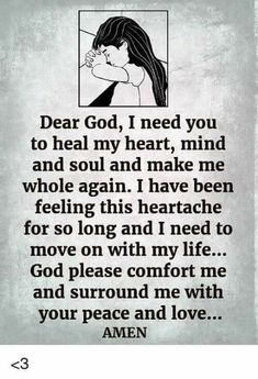 Dear God, I need you to heal my heart, mind and soul please. Morning Prayers, Inspirational Thoughts, Bible Quotes, Faith Quotes, God Prayer, Daily Prayer, Bible Prayers, Bible Scriptures, Praise God