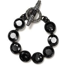 Juicy Couture Glam Rocks Multi Gemstone Pavé Toggle Bracelet ($88) found on Polyvore
