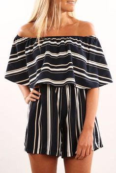 Drop The Game Playsuit Navy