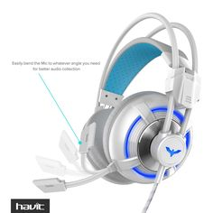 Havit Computer Gaming Headphone with Virtual 4D Vibration and Breathing LED Light - Black / Blue (HV-H2188D): Computers & Accessories