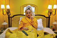 "The Interiors of Wes Anderson. ""Design Bible Apartamento Roams Through the World of the Hollywood Auteur. ""You could compare Wes Anderson to an interior decorator,"" says Apartamento's Editor-in-Chief Marco Velardi. Film D'animation, Film Stills, Wes Anderson Films, The Royal Tenenbaums, Yellow Theme, Romance Film, David Bowie, Set Design, Decoration"