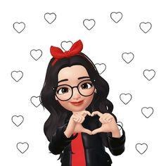 Cute Cartoon Pictures, Cute Cartoon Girl, Cute Love Pictures, Cute Love Cartoons, Cartoon Gifs, Cute Cartoon Wallpapers, Cartoon Art, Bon Mardi Humour, Funny Emoji