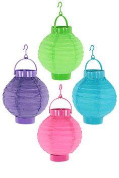/4 Lanternes boule papier LED