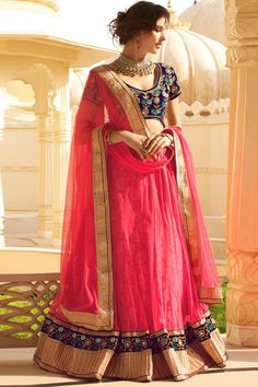 Pink color Bridal Lehenga Choli Online From Hdbazaar Blue Lehenga, Lehenga Blouse, Lehenga Saree, Anarkali, Bridal Lehenga Online, Lehenga Choli Online, Indian Sarees Online, Ghagra Choli, Bridal Lehenga Choli