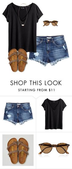 """""""Might get these Birks """" by emiliaa06 ❤ liked on Polyvore featuring H&M, American Eagle Outfitters, Ray-Ban and Kendra Scott"""