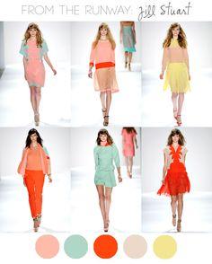 Jil Stuart spring 2012// Y llegó a época de los colores otra vez :D