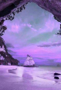 Glorious purple sky