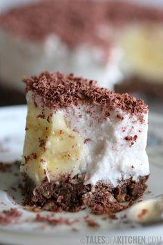Banana Coconut Cream Cake With Brownie Base (Raw Vegan)