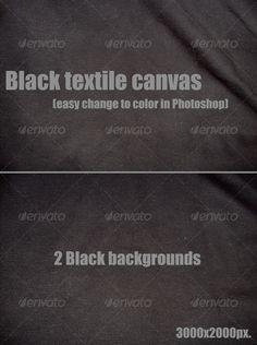 Black textile canvas