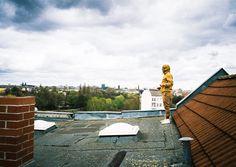 Montag, 27.04., 12:45 Uhr – Neukölln, Weichselplatz: Eine kleine Erkundungstour auf den Dächern der Stadt. © Daniel Müller