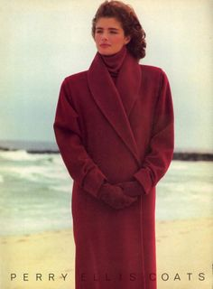 Perry Ellis Coats Fall 1985 - of course it wasn't Perry Ellis! but it was dark burgundy