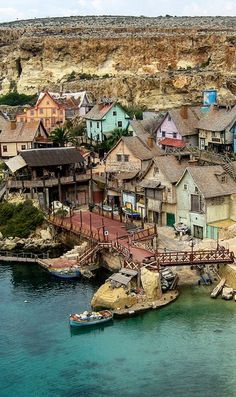 Anchor Bay - Popeye village, Malta / By Grenville Lawrence / Malta Direct will help you plan your getaway -www.maltadirect.com