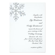 Winter Snowflake Wedding Invitation