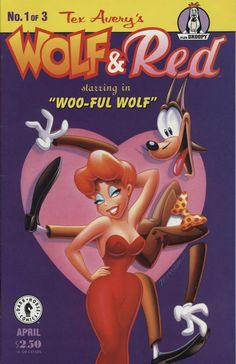 """Comic Book - Dark Horse Comics - Tex Avery's Wolf & Red No.1 No.1 of 3. April, 1995. Wolf & Red starring in """"Woo-ful Wolf"""". Plus Droopy #comicbooks #darkhorsecomics #droopy"""