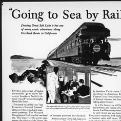 "Drawn Southenr Pacific Railway advertisement entitled ""Going To Sea by Rail"", ca.1930 :: California Historical Society Collection, 1860-1960"