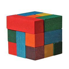 Maple Landmark color cube puzzle, $11.50 (Made in Middlebury, Vermont) #madeinusa #madeinamerica