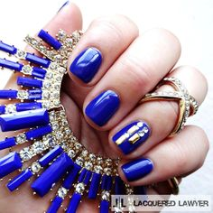 Lacquered Lawyer | Nail Art Blog: Modern Blue