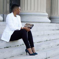 Spring Chic in a Classic White Blazer